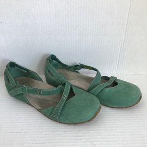 Size 6 Ahnu Sage Green Flats